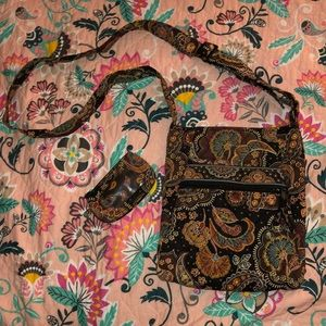 Vera Bradley Hipster Bag with matching ID Case